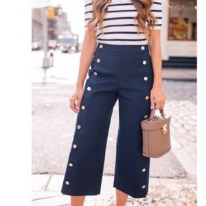 Club Monaco pants Navy with Gold Button detail